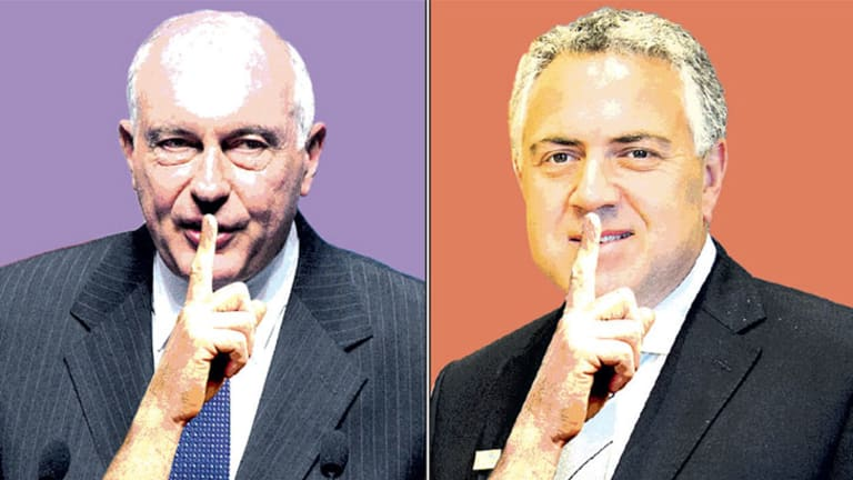Deputy Prime Minister Warren Truss and Treasurer Joe Hockey.