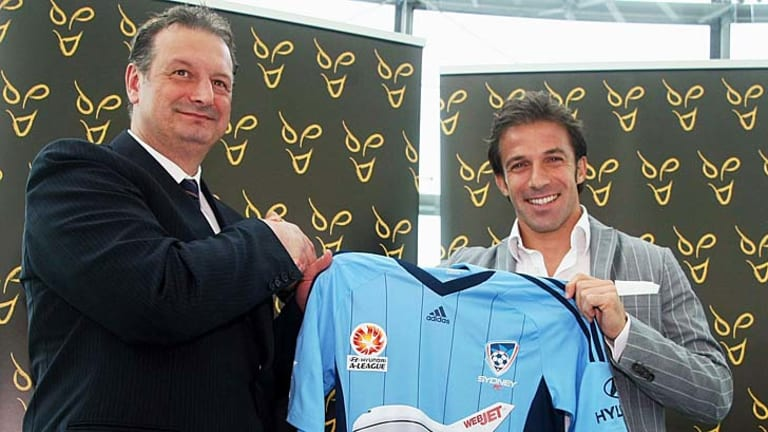 """We're hoping this will blow all the ratings and attendances through the roof"" ... Sydney FC chief Tony Pignata, left."
