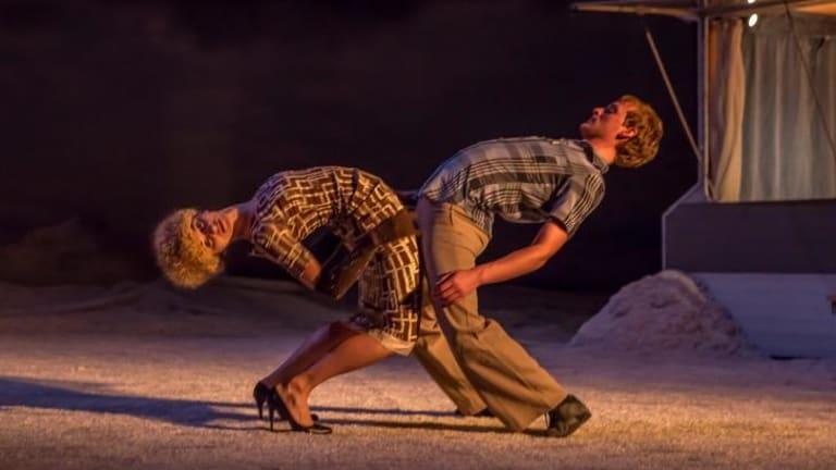 The gradual corruption of a relationship culminates in an intense duet in  Peeping Tom's <i>32 Rue Vandenbranden</i>.