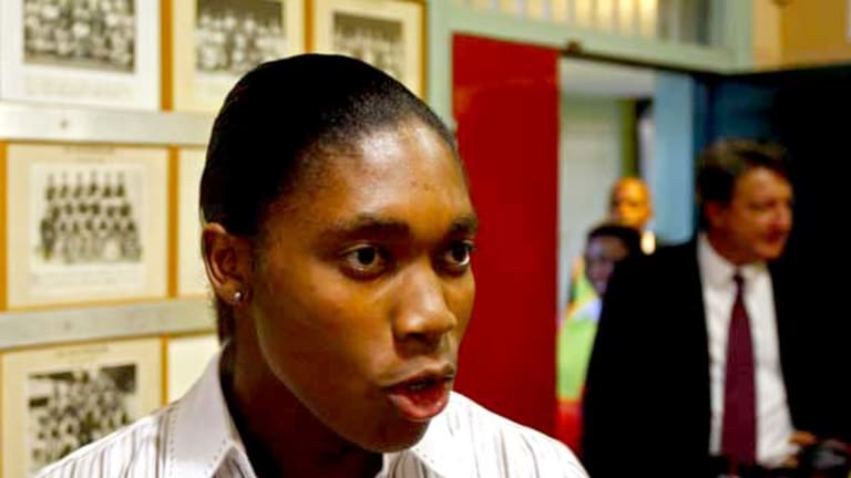 Denied . . . Caster Semenya not allowed to run at a meet in South Africa because the IAAF has yet to release its findings from her gender verification tests.