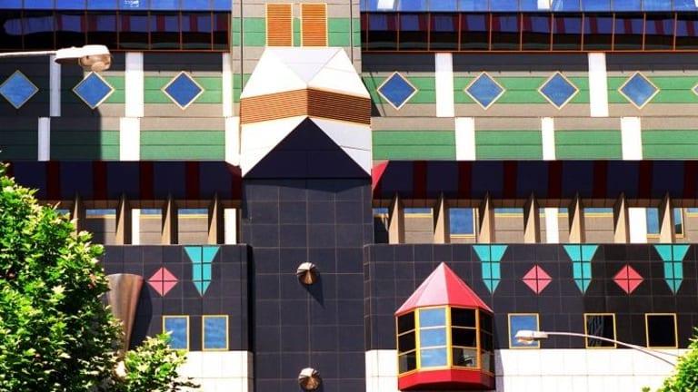 The Exterior of RMIT building 8 designed by Peter Corrigan.