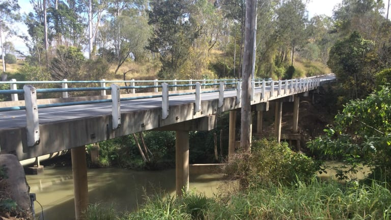 Kholo Bridge, where the body of Ms Baden-Clay was found after it had been dumped by her husband.