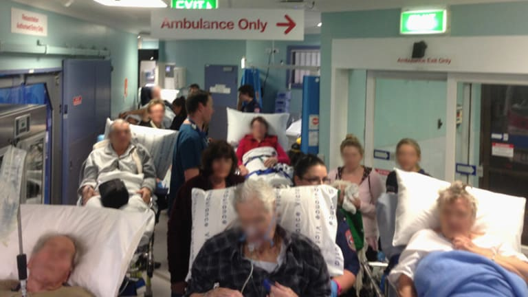 No Room Crowded Conditions At Frankston Hospital 830pm On Monday