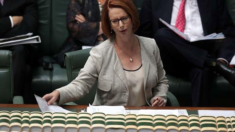 """We will not allow Australian workers to be denied the opportunity to fill Australian jobs"": Julia Gillard."