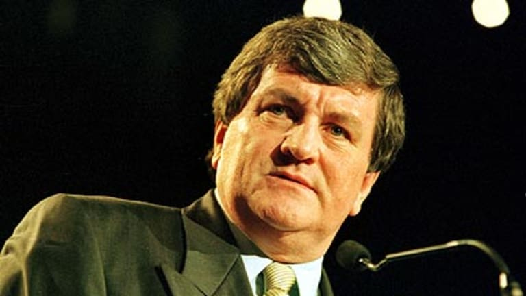 Former Brisbane lord mayor Jim Soorley wouldn't weigh into council's storm in a wine bottle.