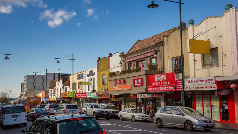 Station Street in Box Hill Victoria. The ATO has been carrying out its cash economy campaigns in the local area full of cafes and restaurants.