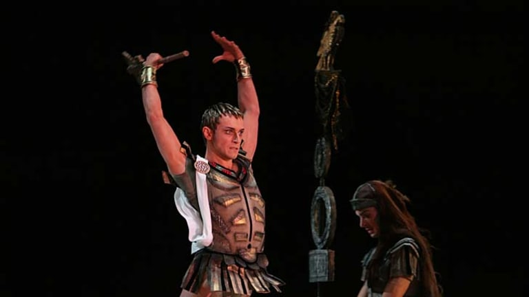 Yuri Baranov in the role of Krassus in Spartacus.