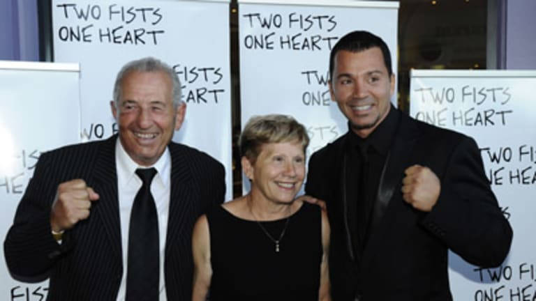 Rai Fazio with his parents Joe and Carmel. Fazio says the film is a tribute to his boxer-trainer father.