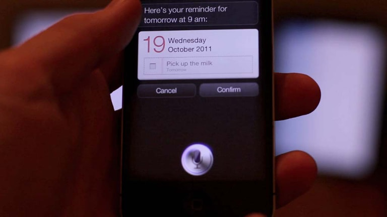 A screenshot of Remember The Milk in action with Siri.