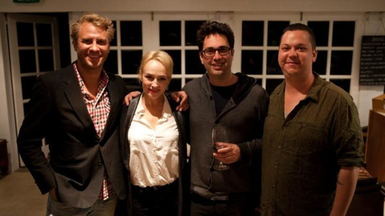 <i>Plonk</i> crew, from left: Nathan Earl, Susie Porter, Chris Taylor and Joshua Tyler.
