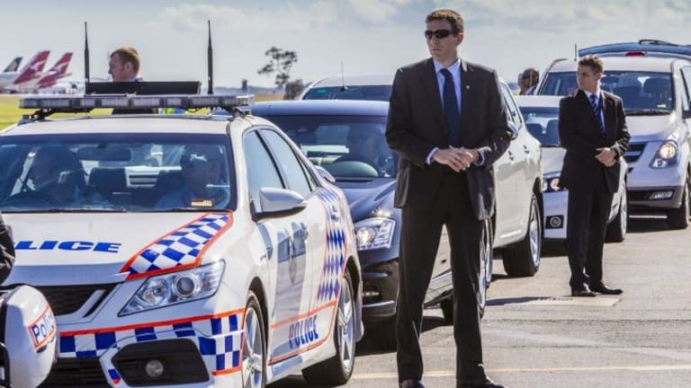 The motorcade is ready to roll as G20 security is put through its paces.