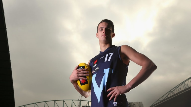 Harley Balic, formerly of Sandringham Dragons, was taken by the Dockers at pick 38