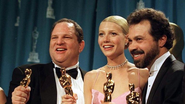 Harvey Weinstein, left, Gwyneth Paltrow and Edward Zwick at the Oscars in 2000.