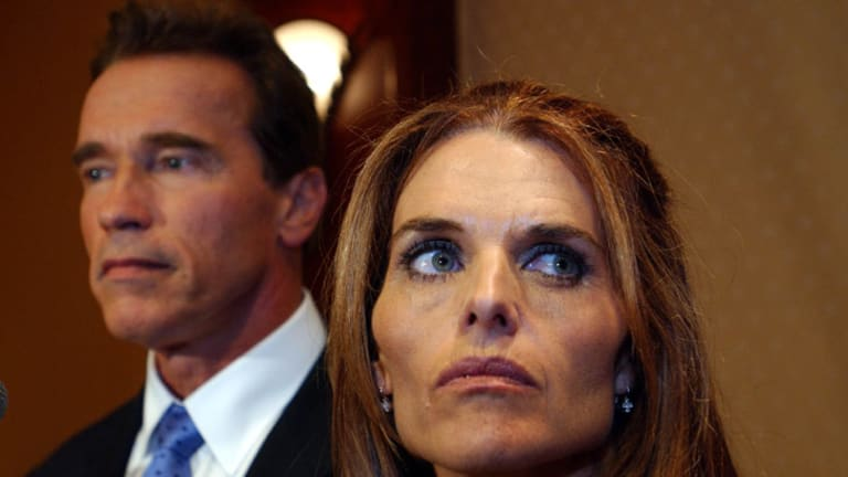 Arnold Schwarzenegger and Maria Shriver face the press to answer allegations that he groped women during his Hollywood career.