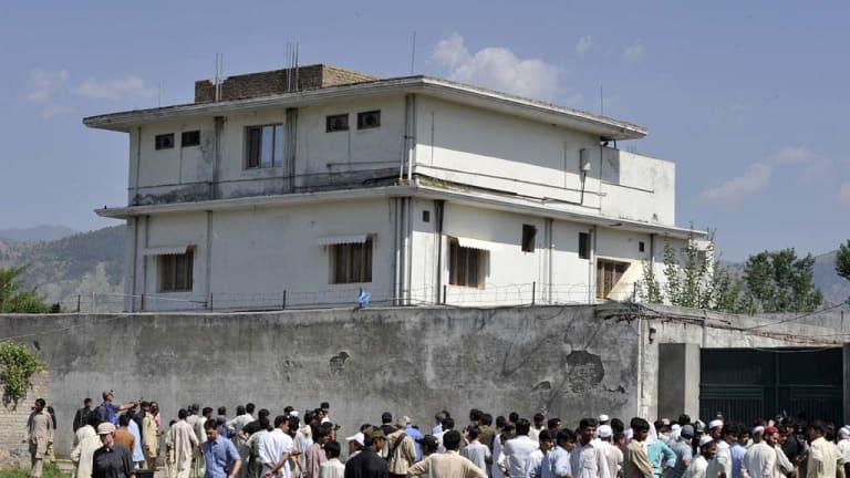 The substantial  hideout of Al-Qaeda leader Osama bin Laden.