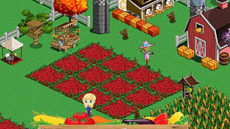 Farmville... one of Zynga's many winning Facebook apps.