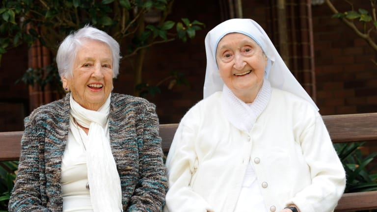 POWs: Lorna Johnston and Sister Berenice Twohill, whose war story was the subject of a 2010 series <i>Sisters of War</I>.
