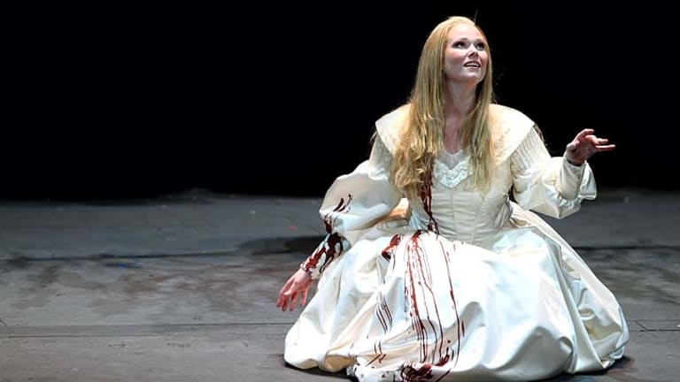 Prize winner: Jessica Pratt performs in Lucia di Lammermoor.