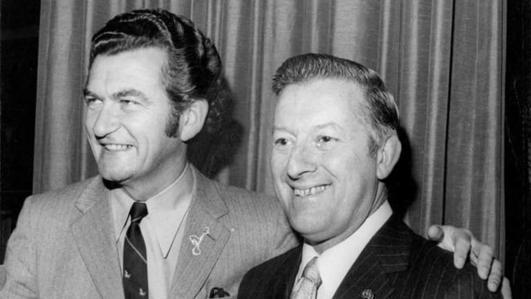 Love of politics: Arthur Gietzelt with Bob Hawke in 1971.