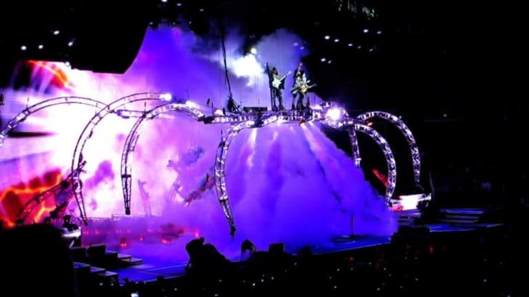Mechanical spider ... Kiss' stage production in the US in 2013.