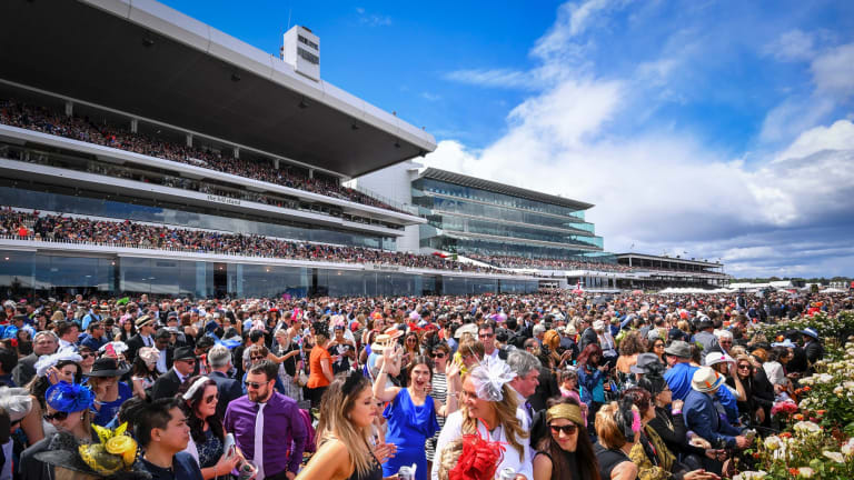 Melbourne Cup 2016. Racegoers at the Flemington Racecourse on the Melbourne Cup day. 1 November 2016. The Age NEWS. Photo: Eddie Jim.