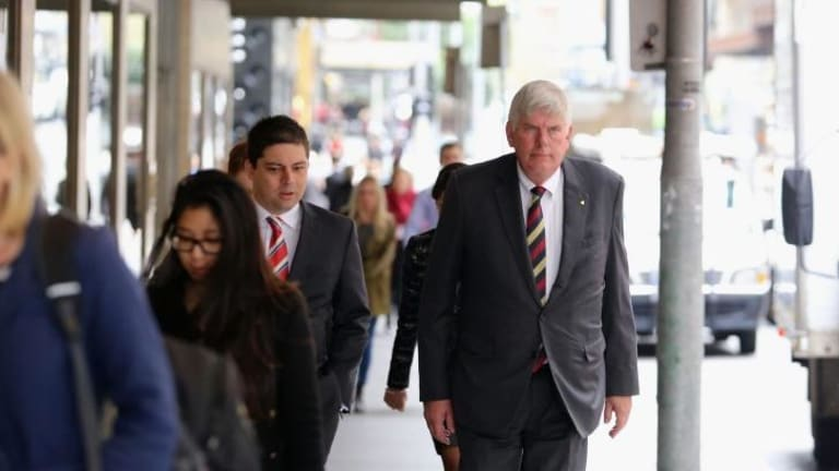 Port Stephens MP Craig Baumann arrives at the ICAC on Friday.