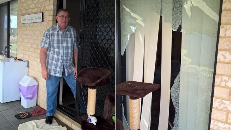 Mr Dawson returned home to find his house broken into.