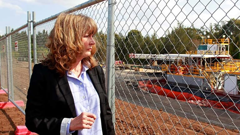 Distrust ... Jacqui Kirkby, from Scenic Hills Association, says residents are becoming more frustrated as AGL remains tight-lipped over its coal seam gas plans.