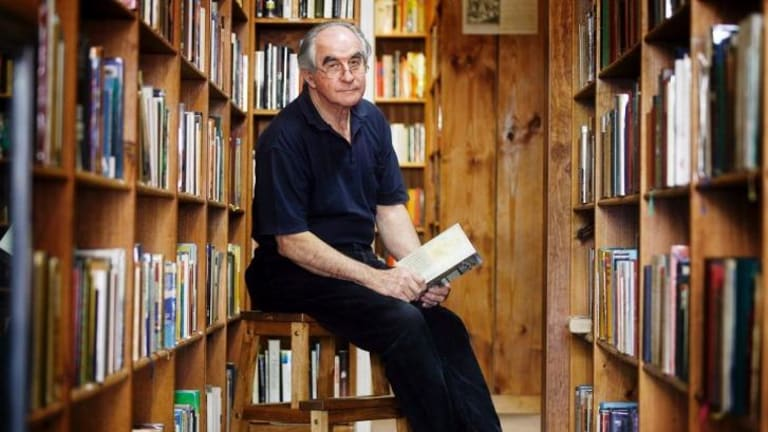 Endlessly fascinating: Charles Stitz at his bookshop in Albury, NSW.