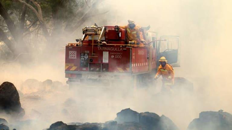 Bushfire damage around Kilmore.