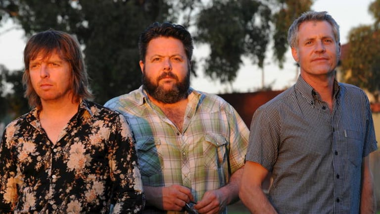 (From left) Ashley Naylor with Even bandmates Wally Kempton and Matt Cotter.
