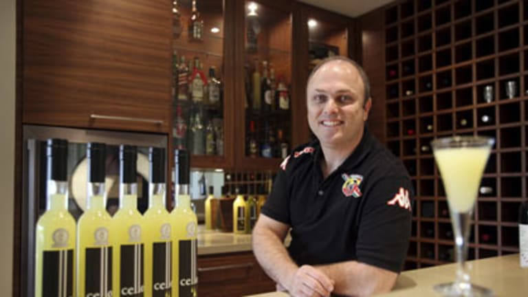 Domenico Cece with his ward winning limoncello.
