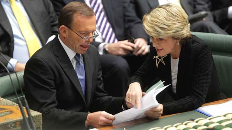 Tony Abbott and Julie Bishop.