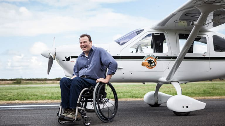"""Flying is freedom for Dave Jacka. """"I'm no different to anyone else up there. In fact, I'm better than most."""""""