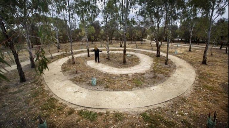 Environmental sculpture <i>A Forest For Australia.</i>