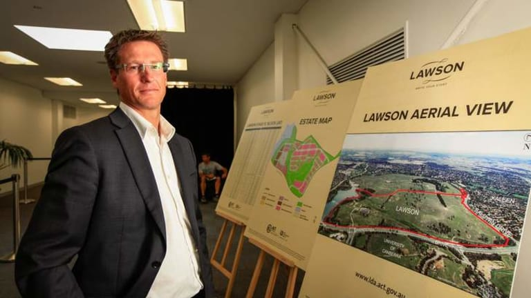 Land Development Agency conducted the auctions for the first residential release of land in Lawson today at Exhibition Park. Chris Reynolds, executive director of Land Development.