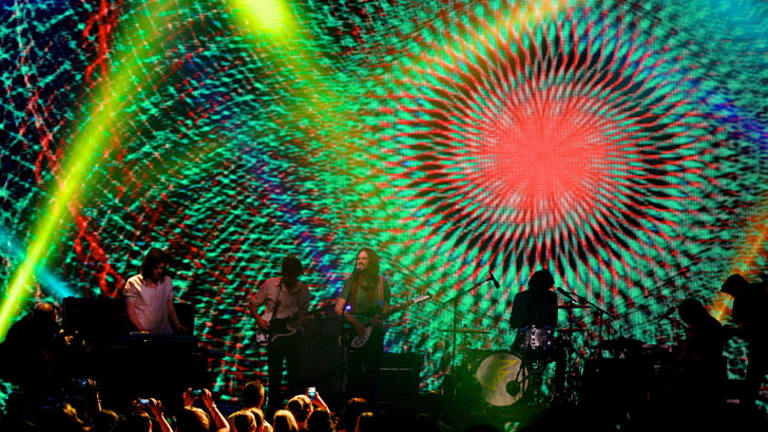 Tame Impala on stage for the last performance of the 2013 ARIA Awards.