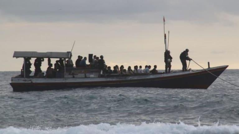 An asylum seeker boat, in a file photo.
