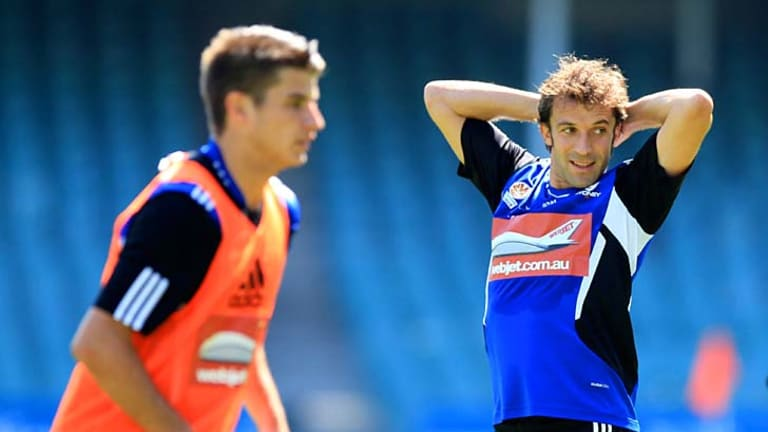 ''I've got no words for it really'' … Terry Antonis training with Alessandro Del Piero.