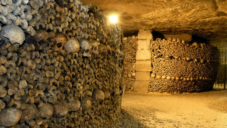 Catacombs in Paris.
