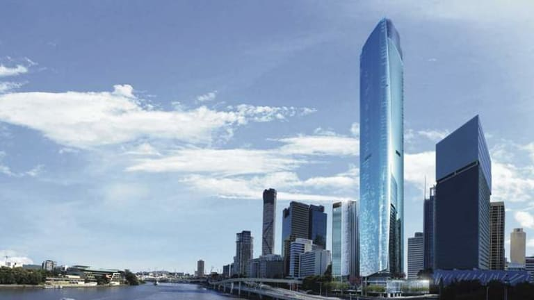 A concept design of what Brisbane's new skyline will look like when the largest integrated CBD development is built.