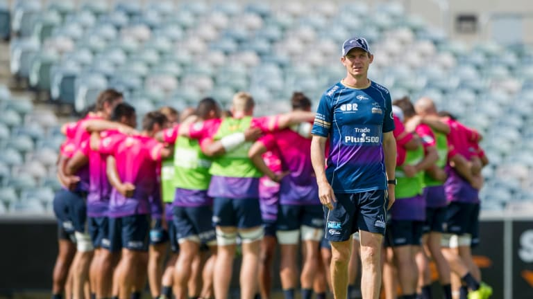 Brumbies coach Stephen Larkham has called on officials to keep the club in Canberra.