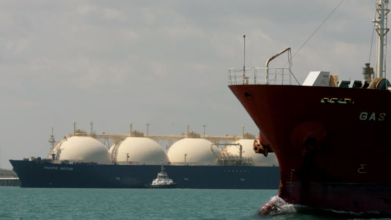 China is the major destination of most of the growth in Australian LNG exports.