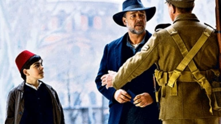 Russell Crowe is nominated for best actor in <i>The Water Diviner</i>.