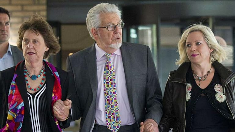 Awaiting verdict: Veteran Australian artist and entertainer Rolf Harris with his niece Jenny, left, and daughter Bindi. right, leave Southwark Crown Court in London.