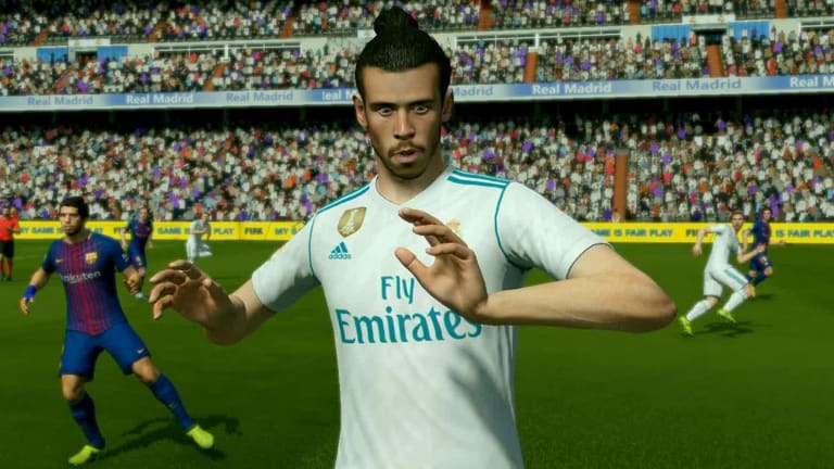Game day: A screenshot from FIFA 18.