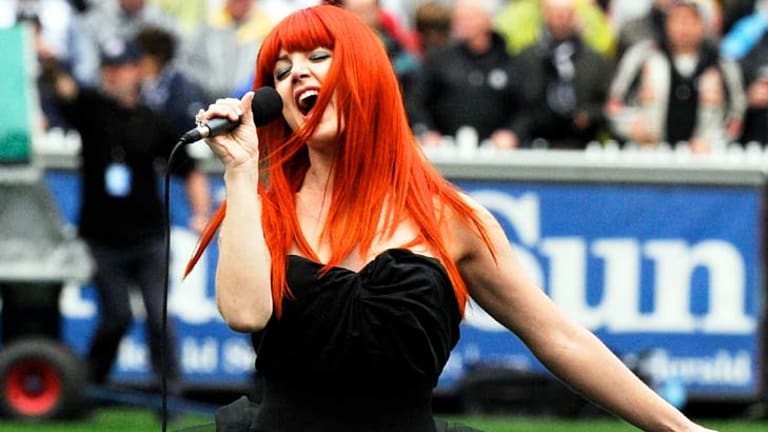 A side serve of carrot-haired Vanessa Amorosi completed the entertainment.