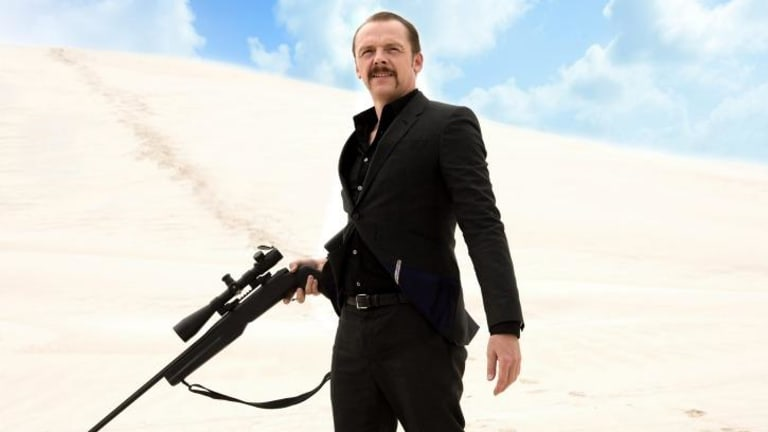 Tough guy: Simon Pegg stars in Kriv Stenders' crime caper <i>Kill Me Three Times</i>.