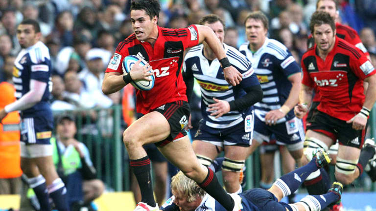 Prolific tryscorer ... Sean Maitland of the Crusaders.