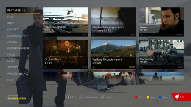 FreeviewPlus is expected to deliver access to online video from the five main Australian television networks. The service is built into a new onscreen electronic program guide that lets viewers scroll back in time and click to watch shows they'€™ve missed.